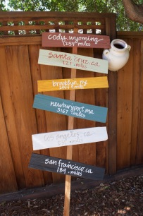 Wedding Signage, Construction by Uncle, Painting by Mom