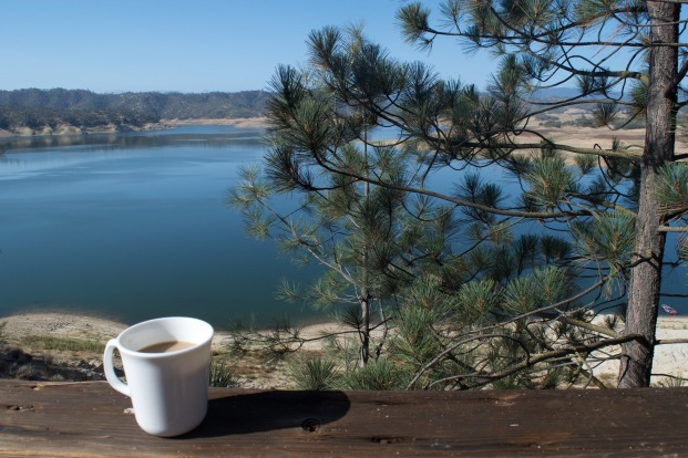 View from Lake Nacimiento Cabin
