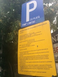 Complex Parking Sign, Bucharest